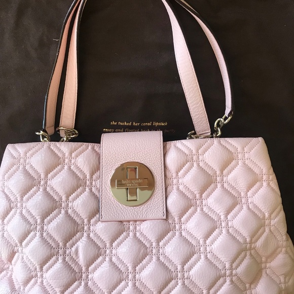 e24e38f714db Kate Spade Astor Court Elena Leather Blush Handbag